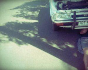 Reperatur am Subaru auf dem Roadtrip