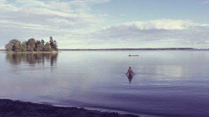 Schwimmen in der schwedischen Ostsee